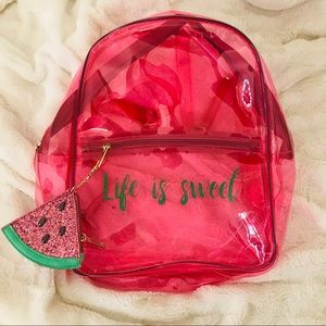 Life is Sweet Pink Neon PVC Backpack 🍉✨
